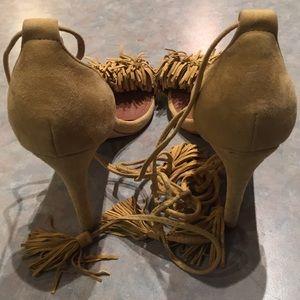 Steve Madden Shoes - Steve Madden Sassey Suede tassel sandals